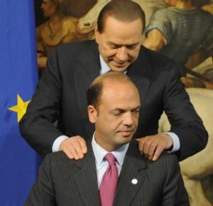 Silvio Berlusconi e Angelino Alfano