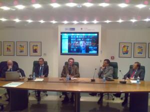 Alberto Cisterna in un convegno antimafia a Cosenza