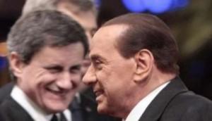 Alemanno sfocato con Berlusconi