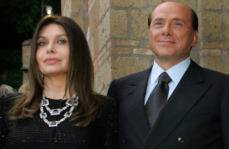 Veronica Lario con l'ex marito Silvio Berlusconi