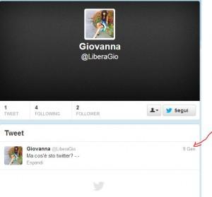 Una follower di Monti che la dice tutta. Ha twittato una sola volta ma il 9 gennaio (Sic!)