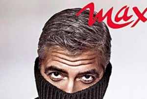 George Clooney coverman su Max - Ball Ironing