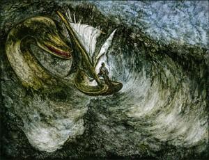 Rappresentazione del mostro di Lochness