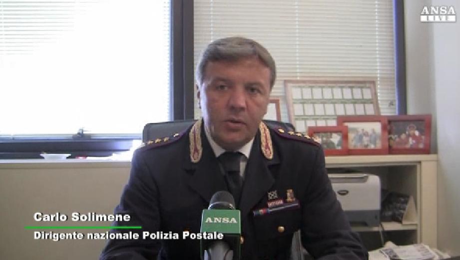 Carlo Solimene Dirigente naz Polizia Postale - Ansa -