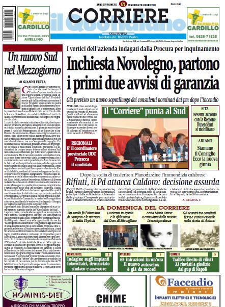 Il Corriere dell'Irpinia. Nella testata l'evoluzione editoriale