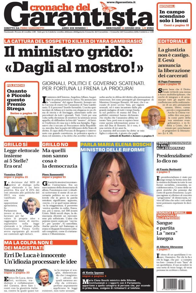Prima pagina Cronache Il GarantistaPrima pagina Cronache Il Garantista