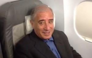 Marcello Dell'Utri in volo verso l'Italia