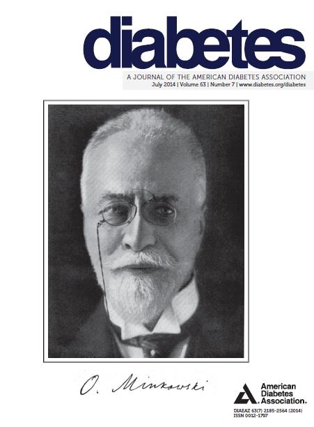 """Nella copertina di """"Diabetes"""" Oskar Minkowski uno dei precursori della lotta al Diabete citato nel commento di Francesco Rubino e Stephanie A. Amiel"""