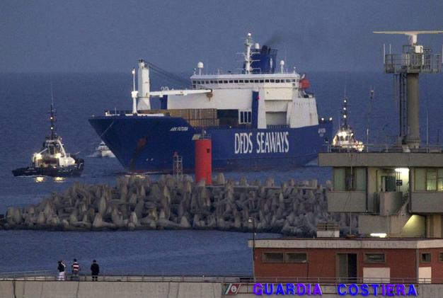 armi chimiche gioia tauro arrivo nave danese