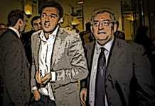 Magorno con Renzi visti dalla Satira