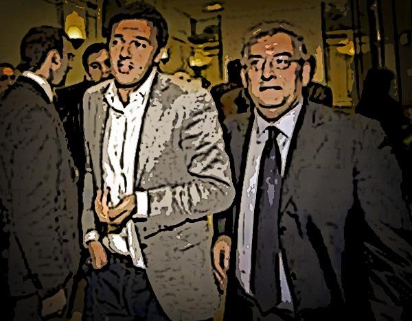 Magorno con Renzi visti da Grattachecca