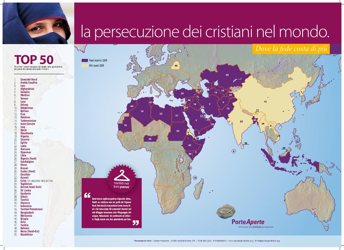 persecuzione  dei Cristiani nel mondo