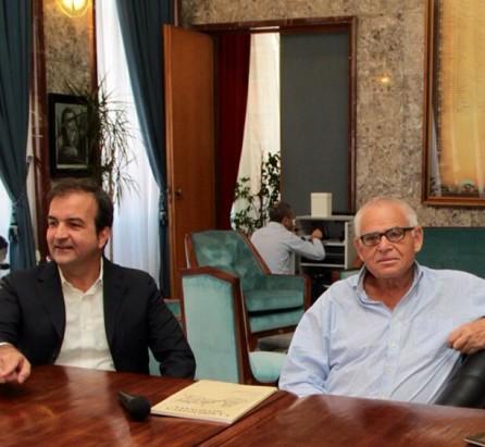 Il sindaco di Cosenza Occhiuto con Edware Luttwak