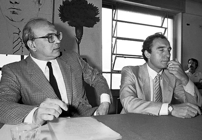 Bettino Craxi con Paolo Pillitteri