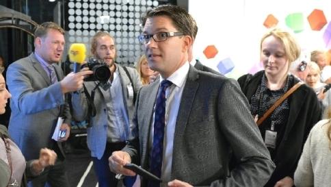 Il leader del Sveriges Demokraterna Jimmie Åkesson