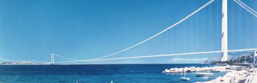 Una ricostruzione del Ponte sullo Stretto