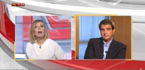 Raffaele Fitto intervistato su SkyTg24 da Maria Latella