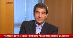 Raffaele Fitto su SkyTg24
