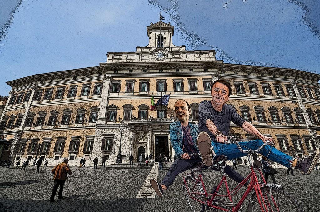 Renzi e Alfano in Tandem visti da Grattachecca