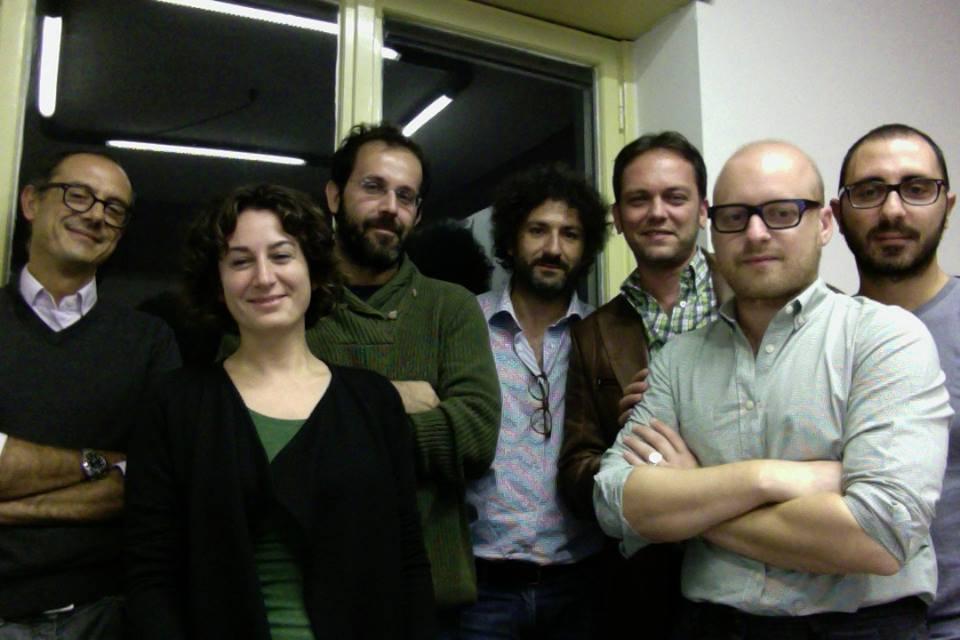 Da sinistra il diretto Francesco Graziadio, Alessia Truzzolillo, Pablo Petrasso, Alfonso Bombini, Marco Cribari, Eugenio Furia e Francesco Veltri
