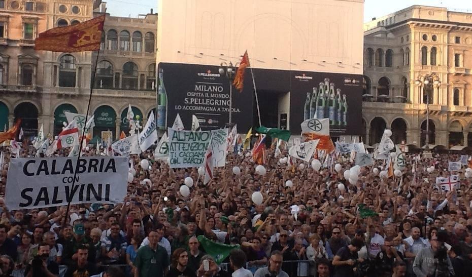 Manifestazione Lega Salvini Stop Invasione