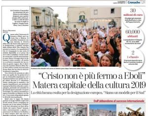 Matera capitale europea della cultura 2019 - La Stampa