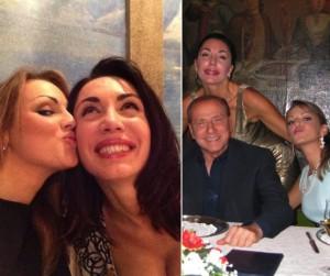 Michelle Bonev con Francesca Pascale e Silvio Berlusconi