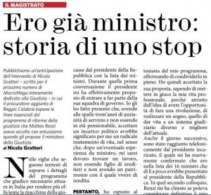 Nicola Gratteri MicroMega Il Fatto