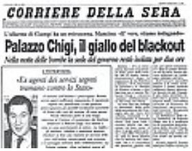 Trattativa Stato Mafia La prima pagina del Corriere della Sera il 5 agosto 1993