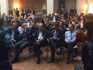 Sveglia Centrodestra Nella foto fra gli altri Adolfo Urso, Gaetano Quagliariello e Raffaele Fitto (Formiche.net)