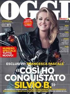 """La copertina del settimanale """"Oggi"""" che dedica a Francesca Pascale stralci della storia scritta da Bruno Vespa suo ultimo libro """"Italiani voltagabbana"""""""