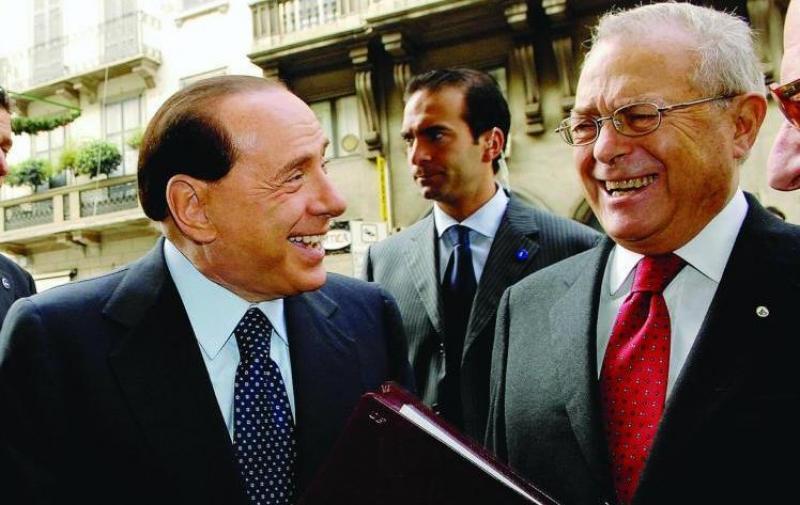 Francesco Nucara e Silvio Berlusconi