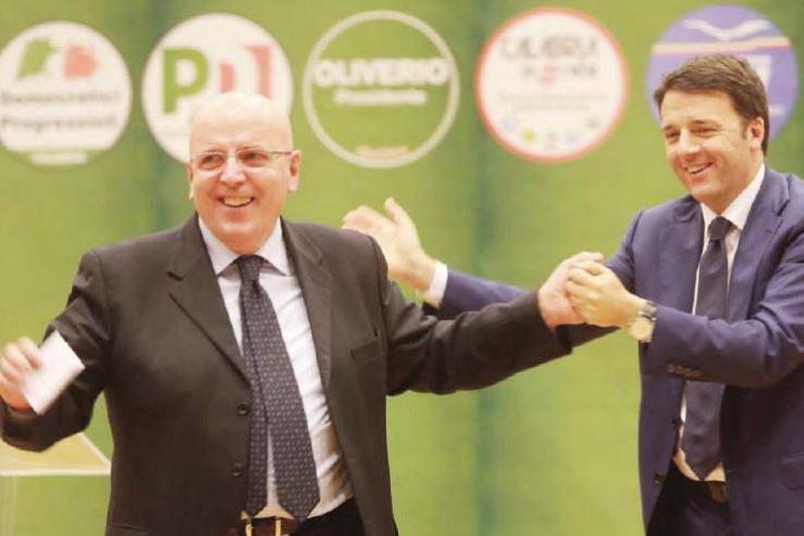 Oliverio con il premier Renzi