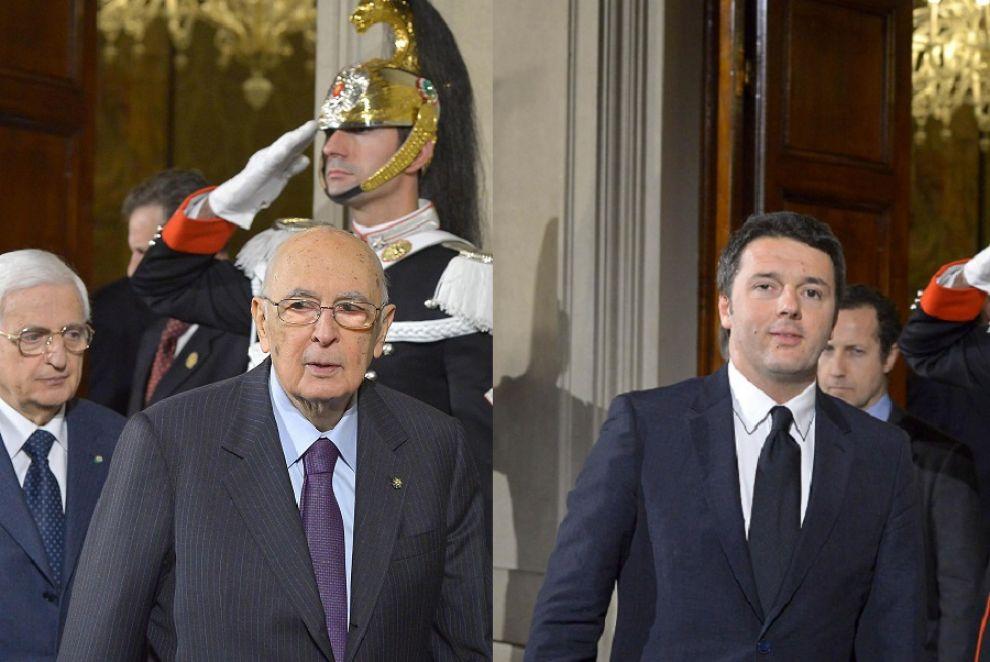 Renzi con Napolitano