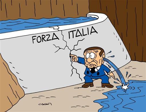 berlusconi e lo svuotamento di forza italia