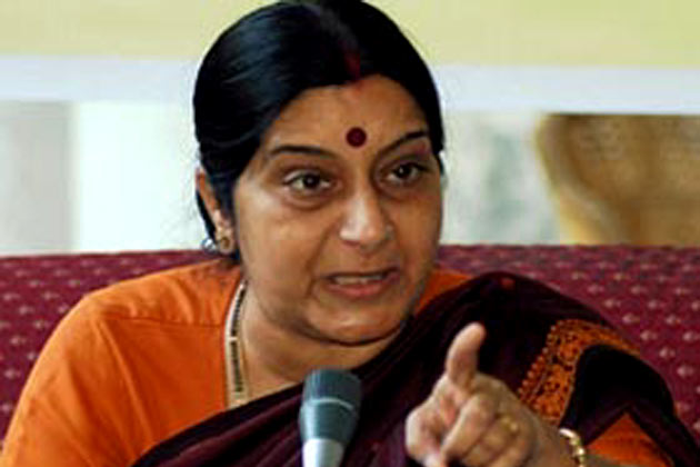 Il ministro degli esteri dell'India Sushma Swaraj