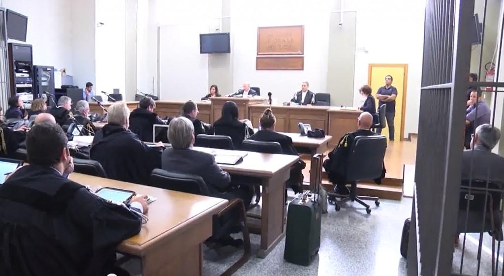 L'aula giudiziaria del processo Marlane