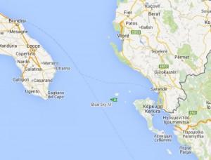 La mappa del cargo Blue Sky M