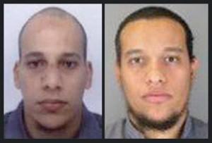 Attacco terroristico a Parigi I fratelli franco-algerini Cherif Kouachi e Said Kouachi presunti autori del massacro di Charlie Hebdo