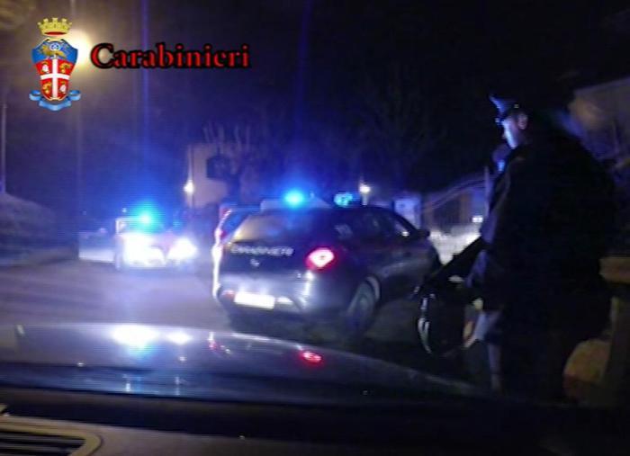 Un fermo immagine dell'operazione contro la 'Ndrangheta (Ansa)