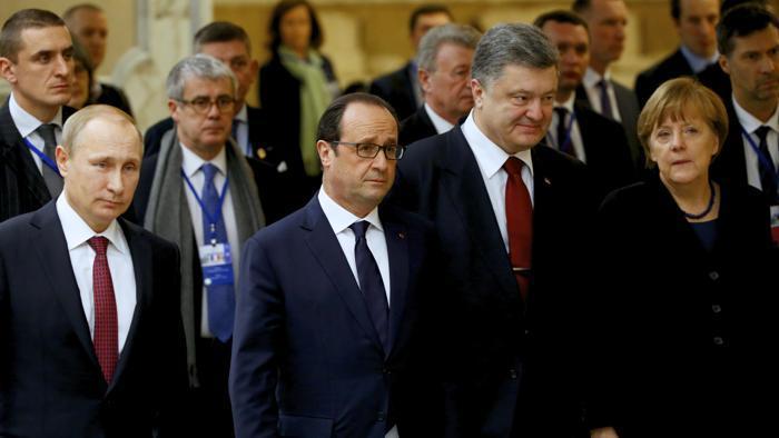 I quattro protagonisti del vertice di Minsk