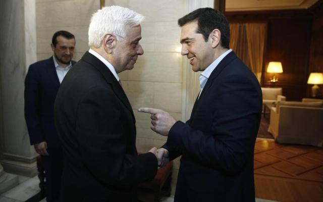 Prokopis Pavlopoulos con Alexis Tsipras