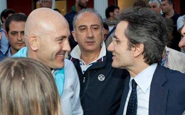 Stefano Caldoro con Gioacchino Alfano - Elezioni regionali in Campania