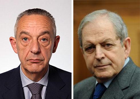 Da sinistra il sottosegretario Umberto Del Basso Caro e Ercole Incalza