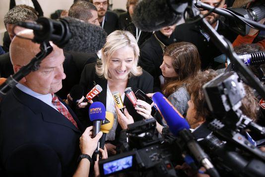 Esulta Marine Le Pen del Front National