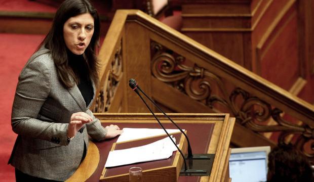 Il presidente del Parlamento greco Zoe Constantopoulou