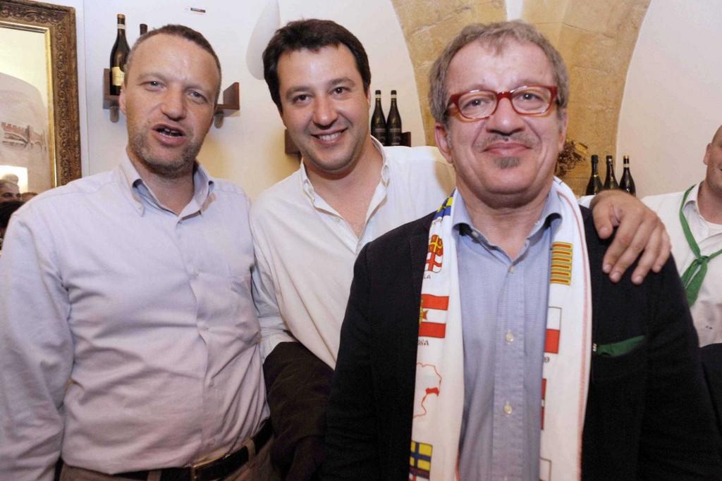 Roberto Maroni, Matteo Salvini e Flavio Tosi