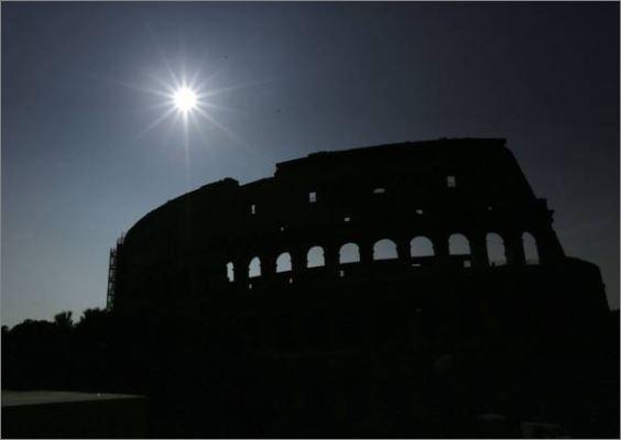 ecclissi solare a Roma