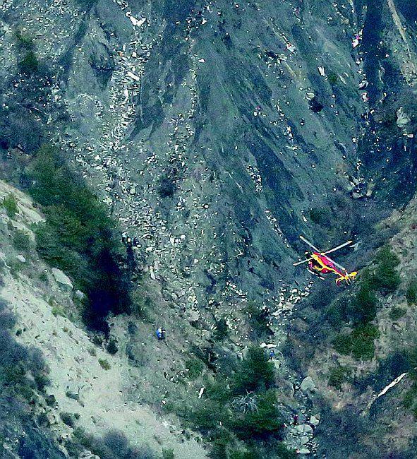 Il luogo del disastro aereo del Germanwings