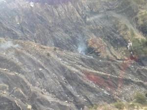 Il luogo del disastro aereo del Germanwings a320